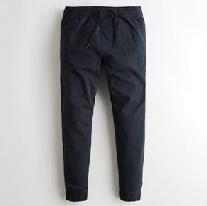 NWT Hollister navy twill jogger pants